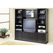 See Details - TV STAND - BLACK WALL UNIT