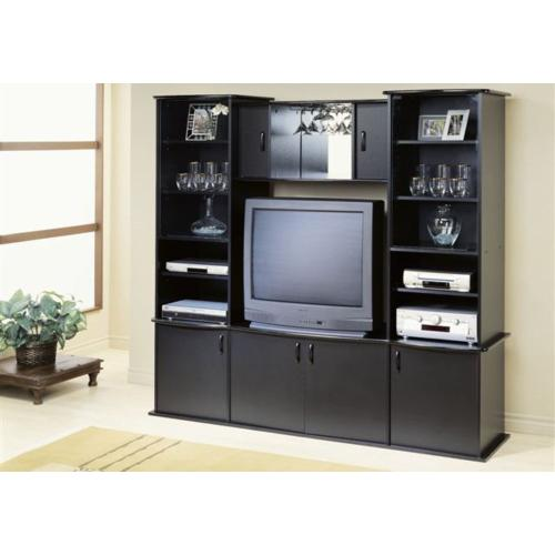 Gallery - TV STAND - BLACK WALL UNIT