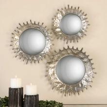 Rain Splash Round Mirrors, S/3