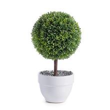 """View Product - Jardin 10"""" Potted Faux Topiary - Boxwood Ball"""