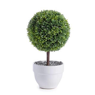 "Jardin 10"" Potted Faux Topiary - Boxwood Ball"