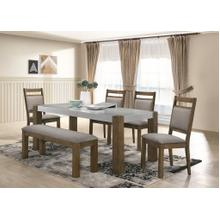 See Details - Costabella 6 PC Dining Set, Table with 4 chairs and Bench