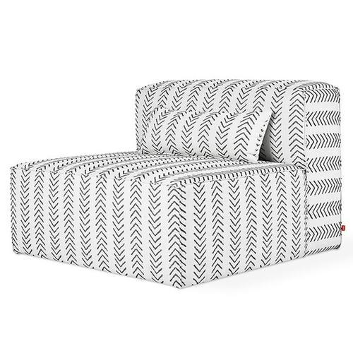 Product Image - Mix Modular Armless Chair Lino Birch