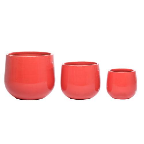 Alfresco Home - Bolla Rosso Cachepot set of 3