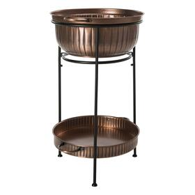 Naka Beverage Tub W/stand - Antique Copper/black