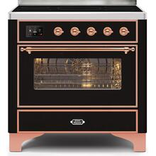 Majestic II 36 Inch Electric Freestanding Range in Glossy Black with Copper Trim