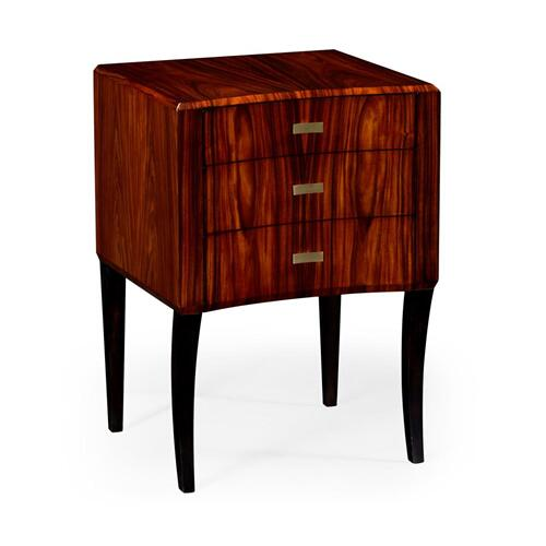 Santos rosewood small curved dhest of drawers (High Lustre)