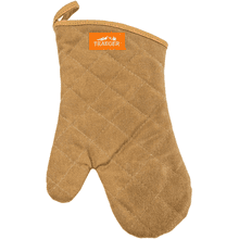 BBQ Mitt - Brown Canvas & Leather