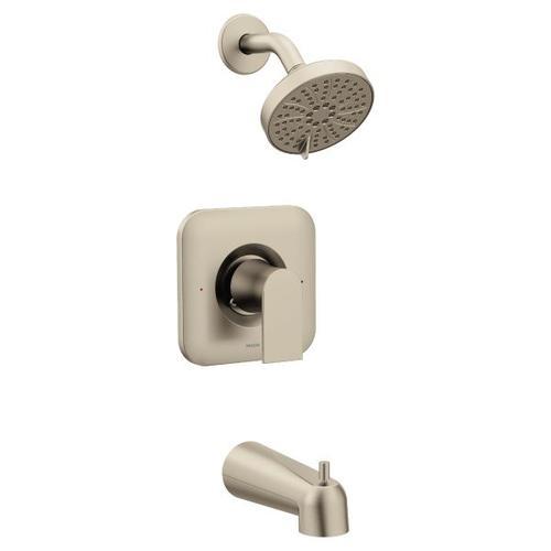 Genta brushed nickel posi-temp® tub/shower