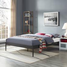 Elsie King Bed Frame in Brown