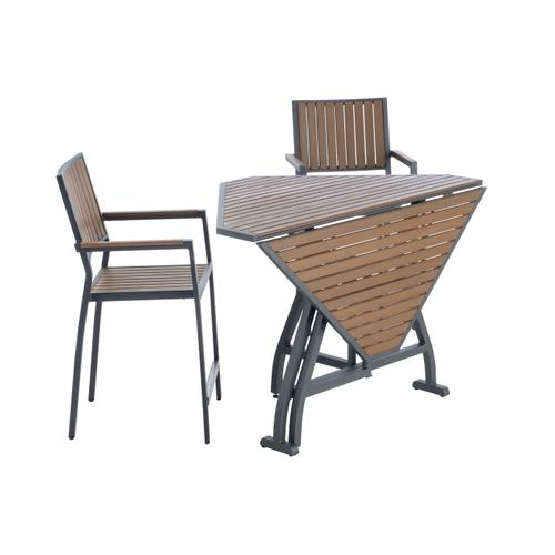 """Oden 43"""" Square Alum/Polywood Folding Gathering Table"""