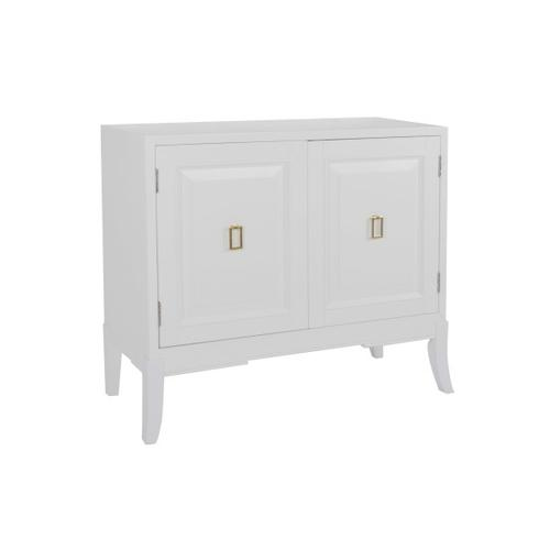 White Two Door Accent Chest
