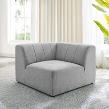 Bartlett Upholstered Fabric Corner Chair in Light Gray