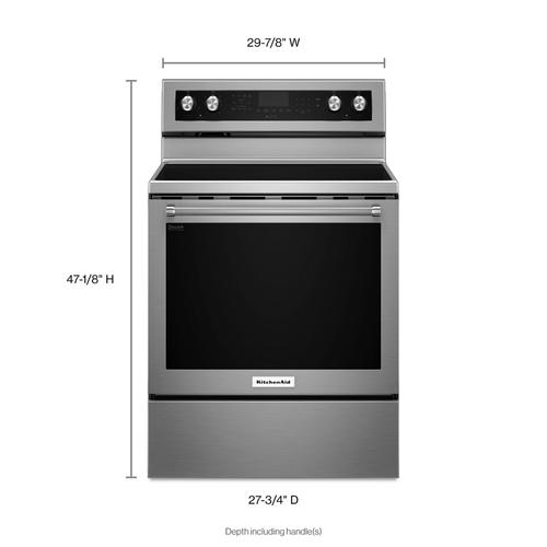 KitchenAid Canada - 30-Inch 5-Element Electric Convection Range - Stainless Steel