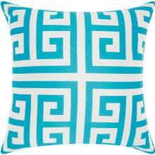 "Outdoor Pillows As047 Turquoise 20"" X 20"" Throw Pillow"