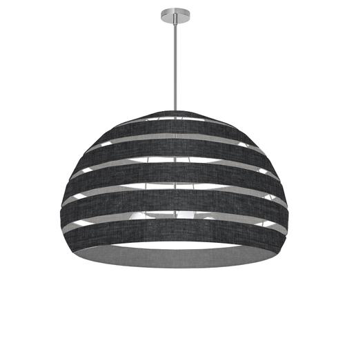 Product Image - 4lt Chandelier Pc, Bk/clr Shade