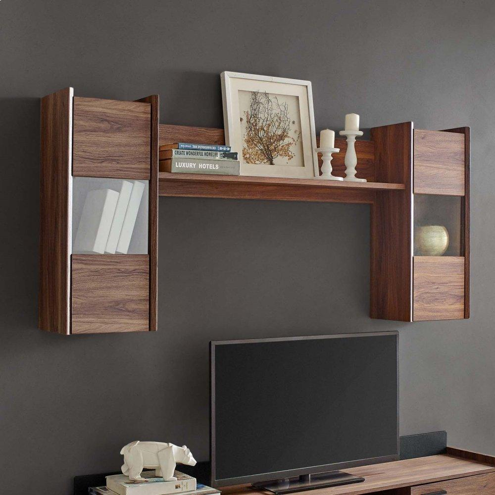 Visionary Wall Mounted Shelves in Walnut