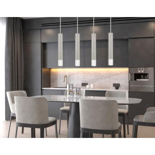 Cal Lighting & Accessories - Troy integrated LED Dimmable Hexagonaluminum Casted 1 Light Pendant With Glass Diffuser