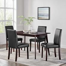 Prosper 5 Piece Dining Set in Cappuccino Black