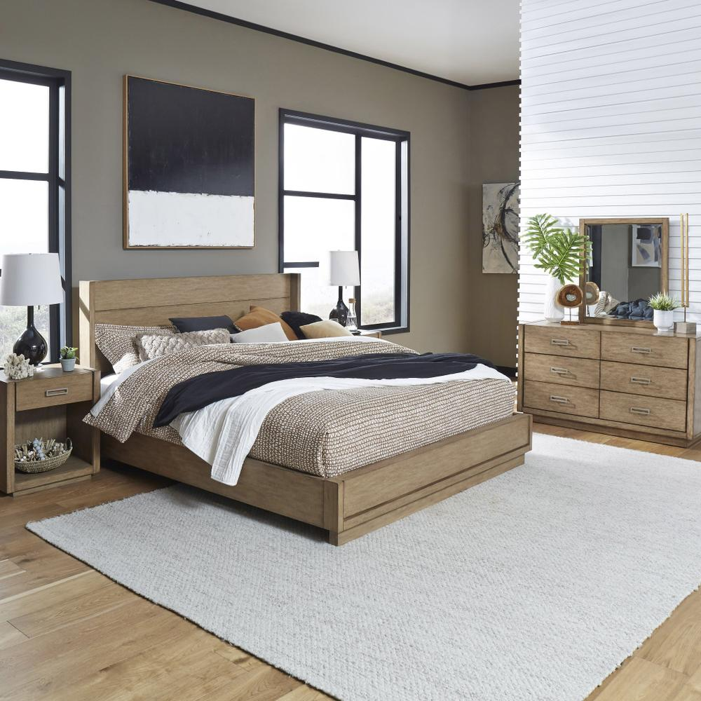 Montecito King Bed, Two Nightstands and Dresser With Mirror