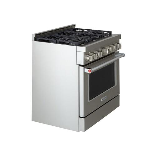 KitchenAid® 36'' Smart Commercial-Style Gas Range with 6 Burners - Stainless Steel