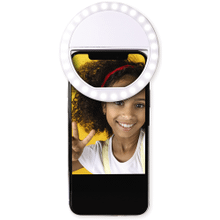 See Details - Rechargeable Clip-on Selfie Light Ring