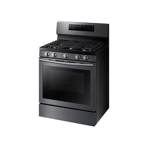 Samsung - 5.8 cu. ft. Gas Flex Duo Range with Griddle and Wok Grate