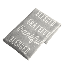 Thankful, Grateful, Blessed Knit Throw