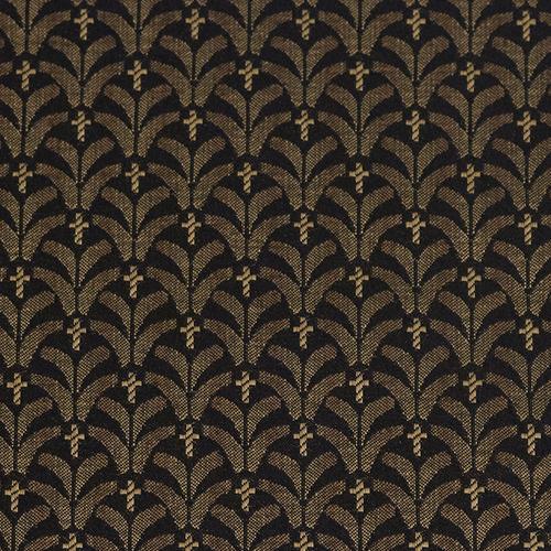 Flash Furniture - HERCULES Series 18.5''W Church Chair in Mission Black Gold Fabric - Gold Vein Frame