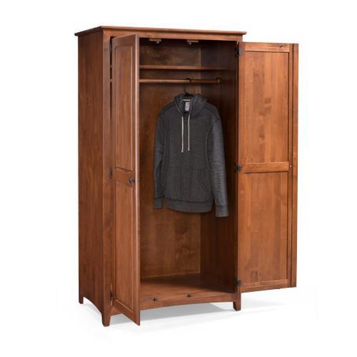 Archbold Furniture - Wardrobe with Hang Rod
