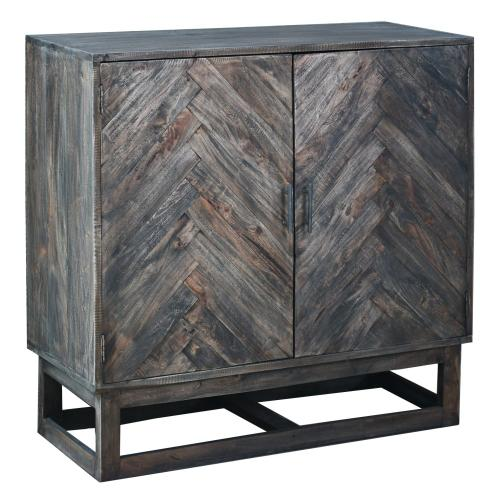 CC-CAB275S-RW  Herringbone Cabinet  Solid Wood  Raftwood Brown