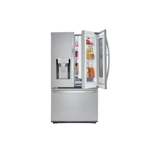 Product Image - 22 cu. ft. Smart wi-fi Enabled InstaView™ Door-in-Door® Counter-Depth Refrigerator