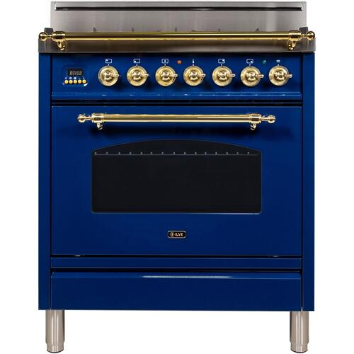 30 Inch Blue Natural Gas Freestanding Range