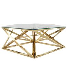 See Details - Metal Hexagon Coffee Table, Gold