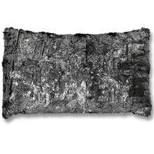 See Details - SHIMMER FUR SILVER PILLOW  Down Feather Insert