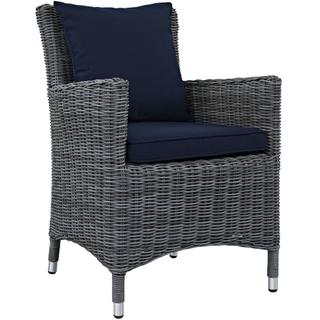 Summon Dining Outdoor Patio Sunbrella® Armchair in Canvas Navy