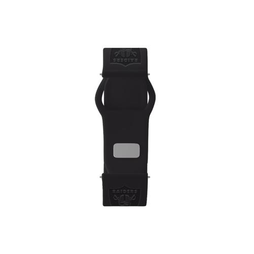 Las Vegas Raiders Debossed Silicone Watch Band (22mm) Black