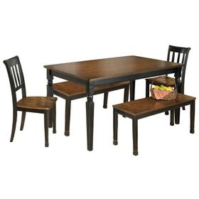 Owingsville Dining Table and 2 Chairs and 2 Benches