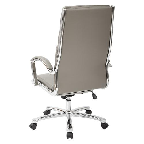 High Back Executive White Faux Leather Chair