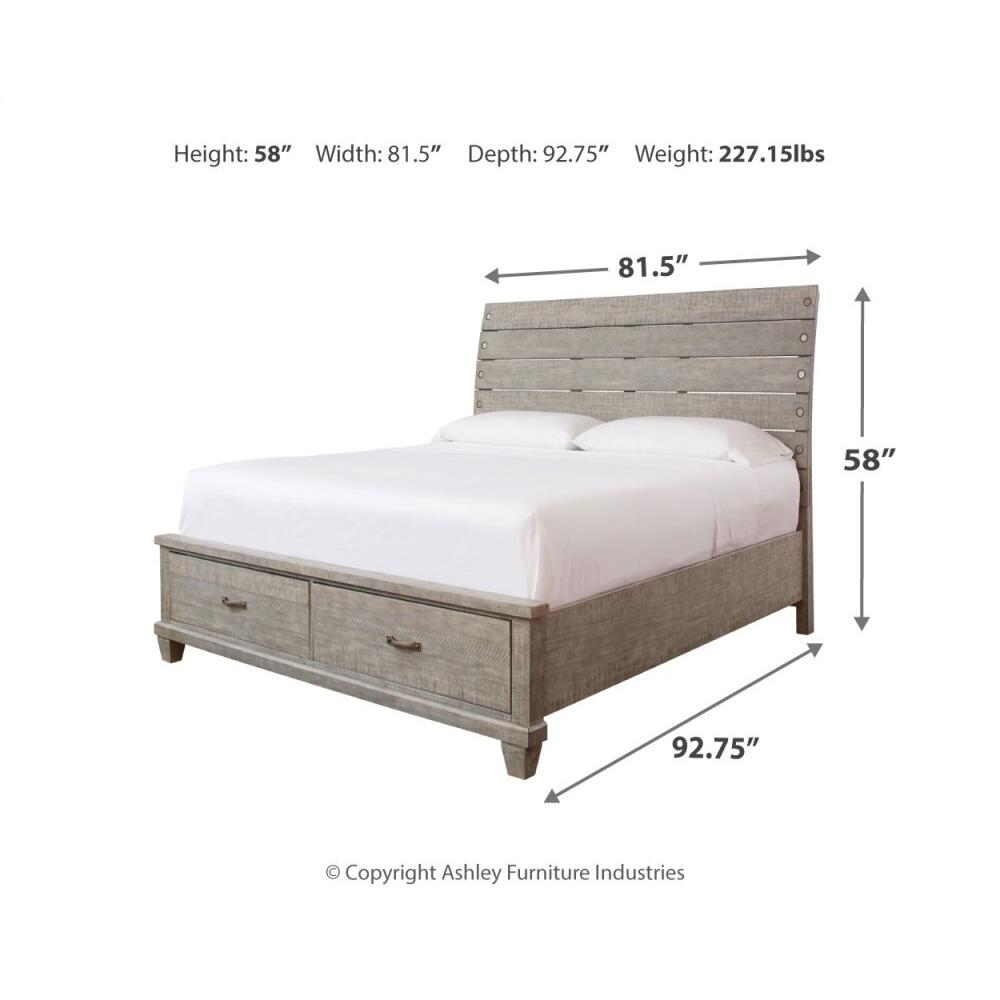 Naydell California King Panel Bed With 2 Storage Drawers