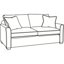 Charleston Loveseat with Wood Feet