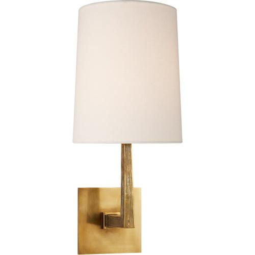 Visual Comfort BBL2082SB-L Barbara Barry Ojai 1 Light 7 inch Soft Brass Sconce Wall Light, Medium