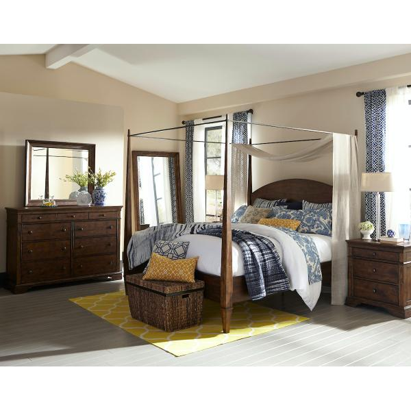 Trisha Yearwood Home Queen Canopy Bed Complete
