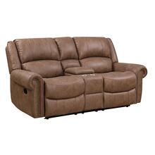Spencer Reclining Console Loveseat, Brown U7122-09-25