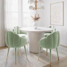 View Product - Gardenia Moss Green Velvet Dining Chair