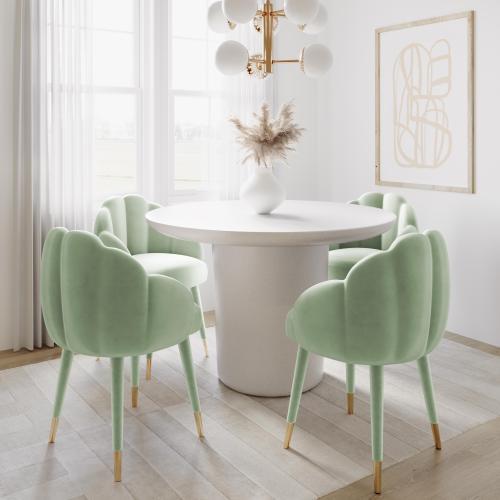 Gardenia Moss Green Velvet Dining Chair