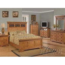 Rustic Oak Finsh Eastern King Bedroom Set