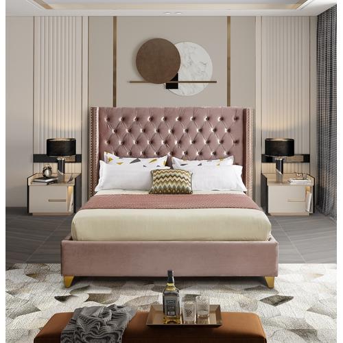 """Barolo Velvet Bed - 66"""" W x 81"""" D x 56"""" H"""