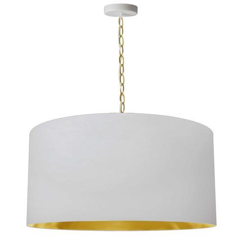 Product Image - 1lt Braxton Large Pendant, Wht/gld Shade, Agb