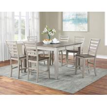 Abacus 7-Piece Counter Dining Set (Counter Table & 6 Counter Chairs)